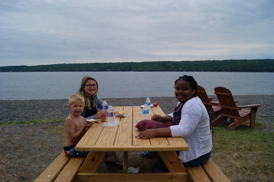 Family Picnicking in Onanda Park