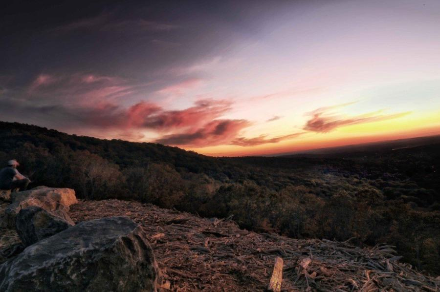 Blevins Gap Sunset from AnywhereTakes