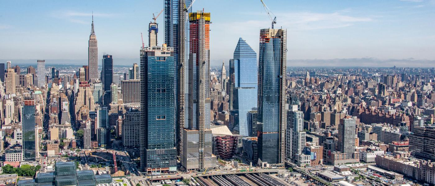 hudson yards, skyline, construction