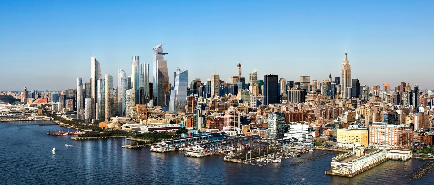 hudson yards, view, skyline