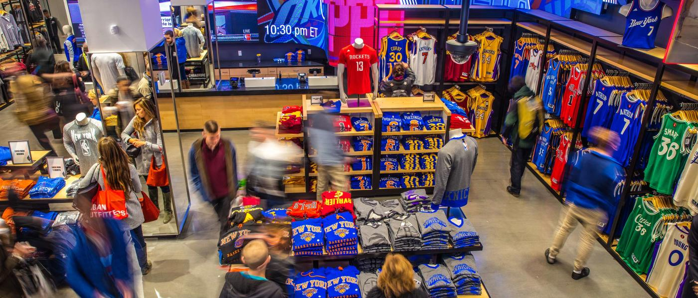 NBA Store, interior