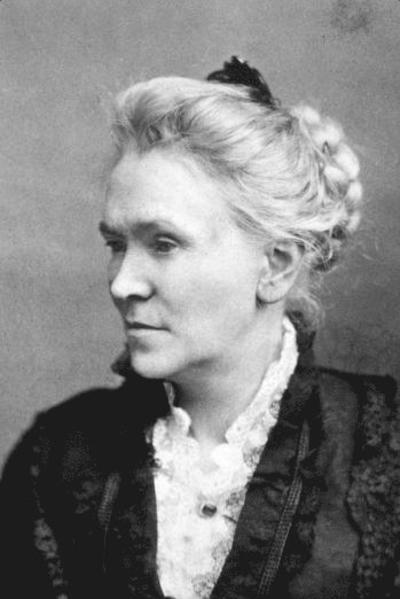 Matilda Joslyn Gage - Suffragette - black and white photo of Matilda