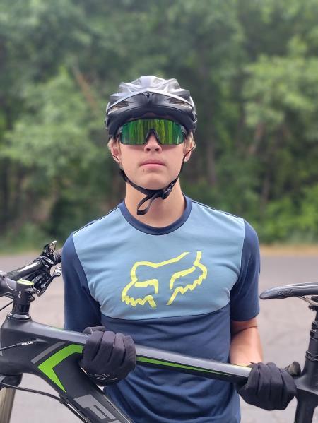 Carri Ward Biking with family