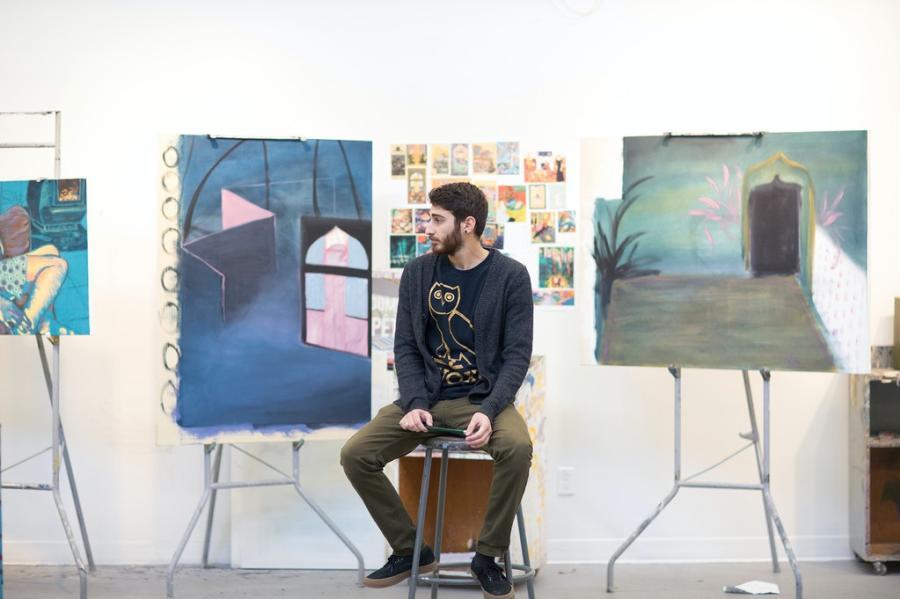 Artist Moozhan Ahmadzadegan
