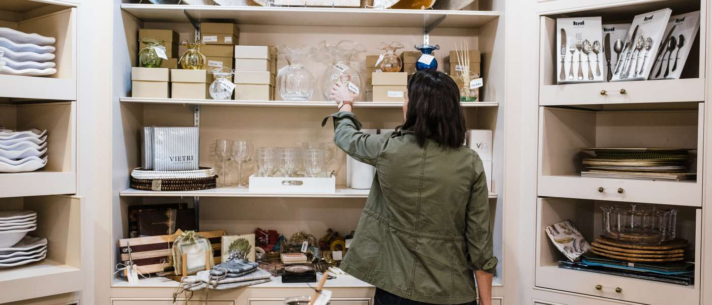 Influencer Jessica Camerata visits a Columbia, SC homegoods shop