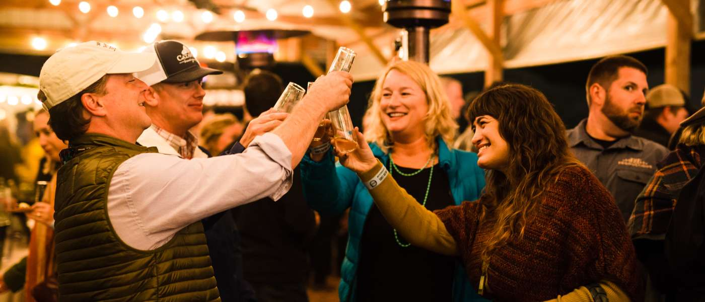 Vanessa Driscoll and friends enjoy Bubble Q at City Roots