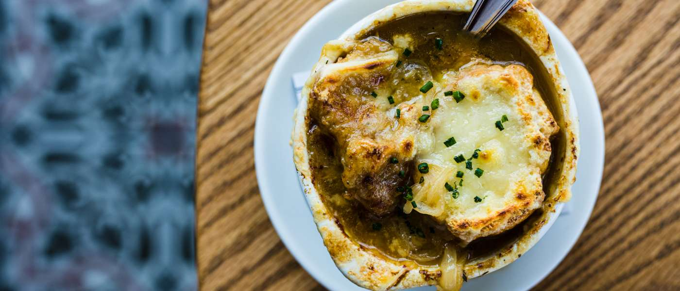French onion soup from Black Rooster