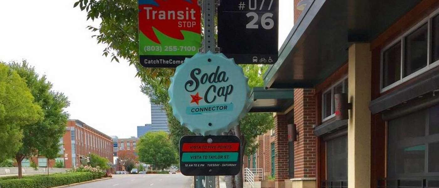 Soda Cap Connector Sign
