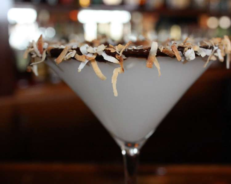 Fall martini at Red Parrot
