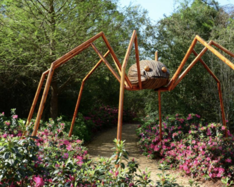 Giant bug sculptures at Green Animals.