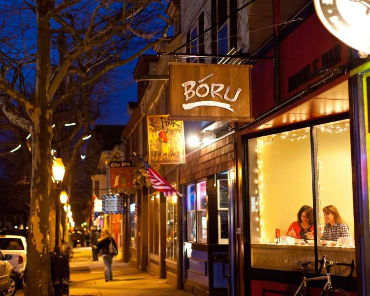 Boru Noodle Bar at night