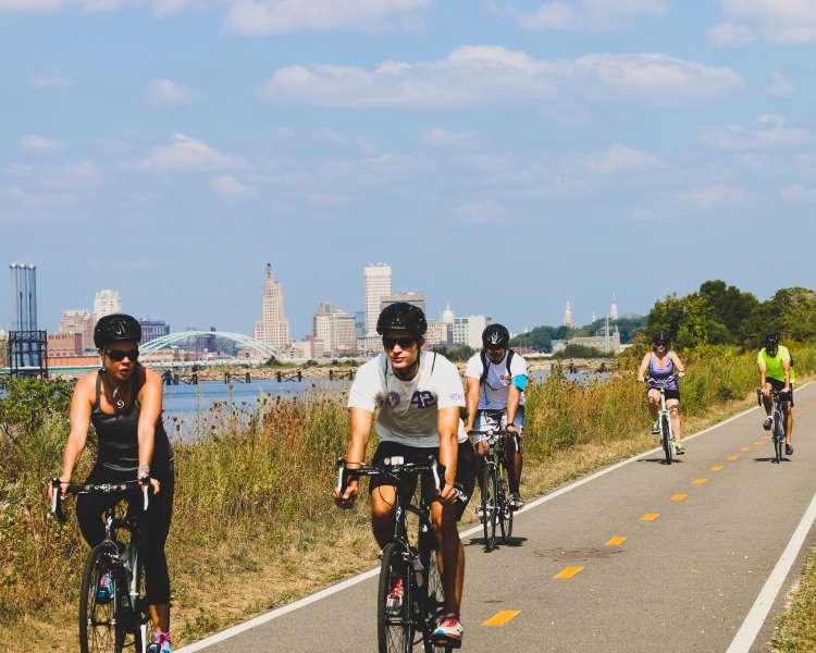 Biking on East Bay Bike Path