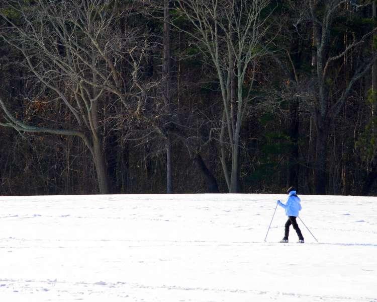 Winter skiing at Goddard Park