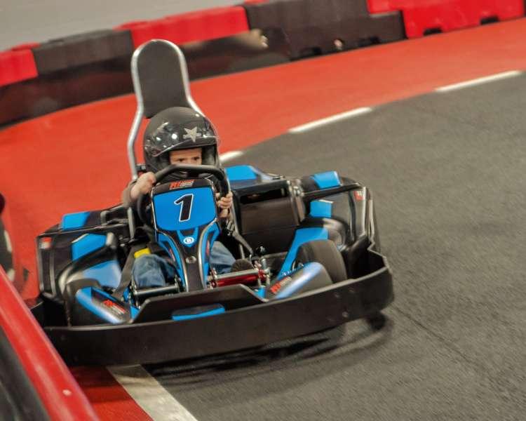 Child at R1 Karting, Lincoln
