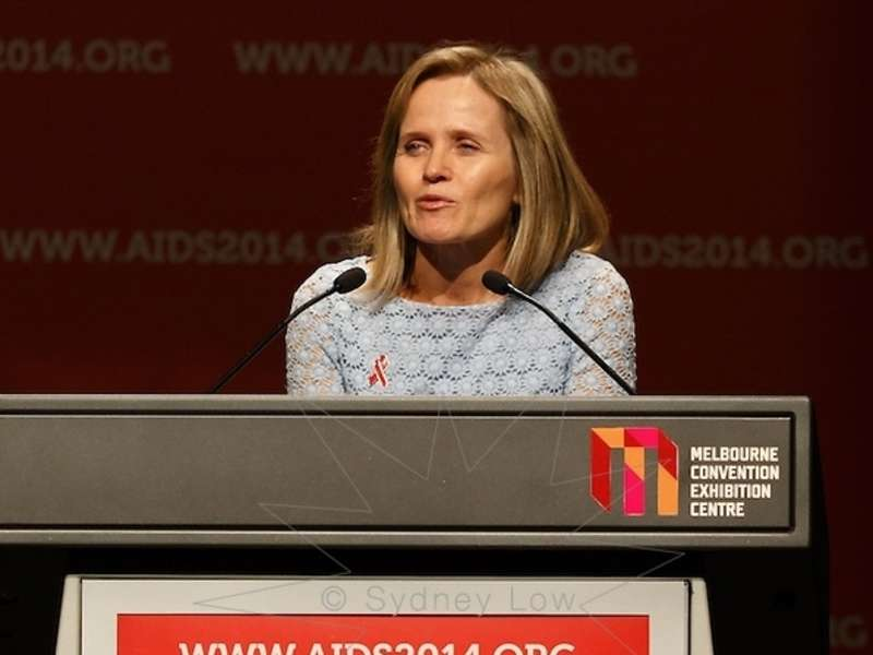 Sharon Lewin Speaking at the Aids 2014 congress, Melbourne