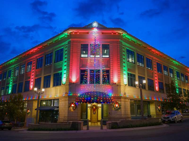 Holiday Lights Truax Building Old Town Temecula