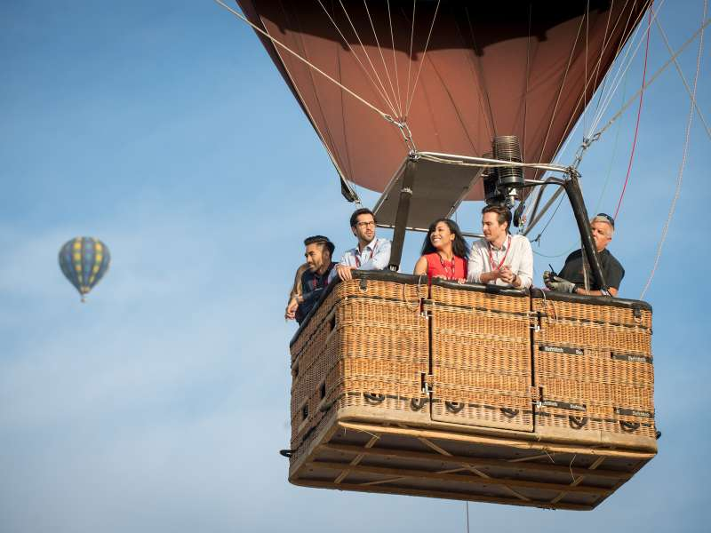 Meeting Group Hot Air Ballooning