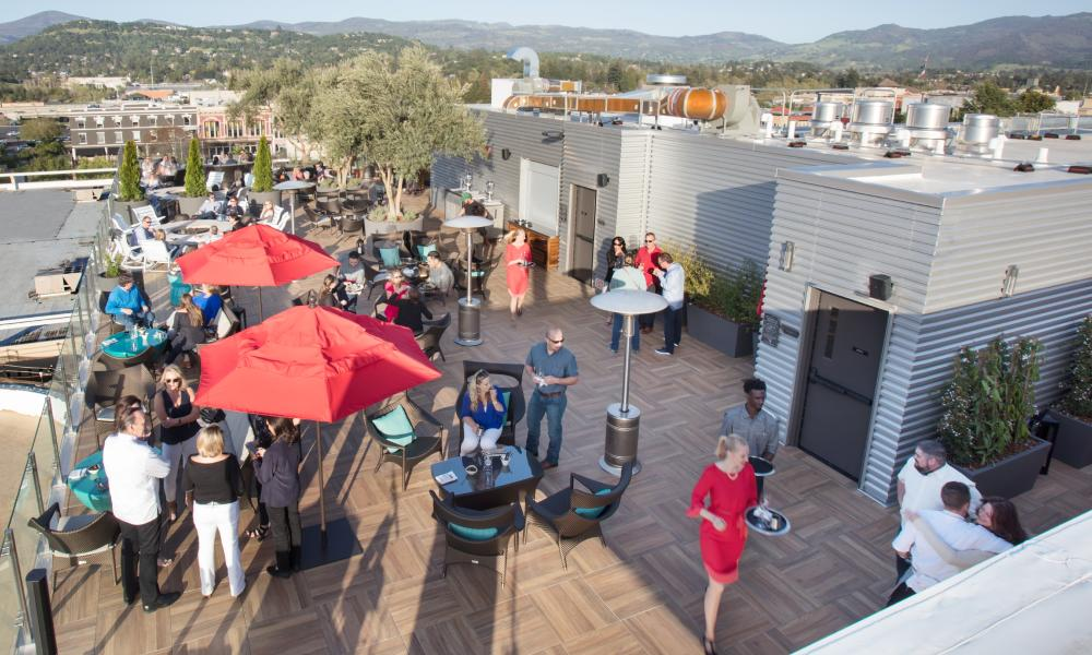 Sky & Vine Rooftop Bar in Napa