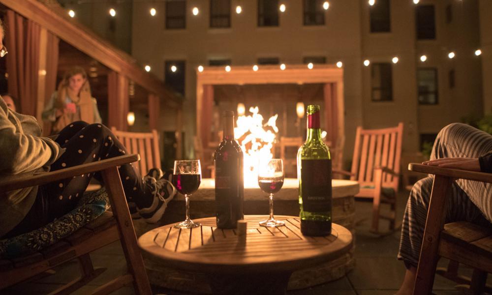 Drinking Wine Around the Fire