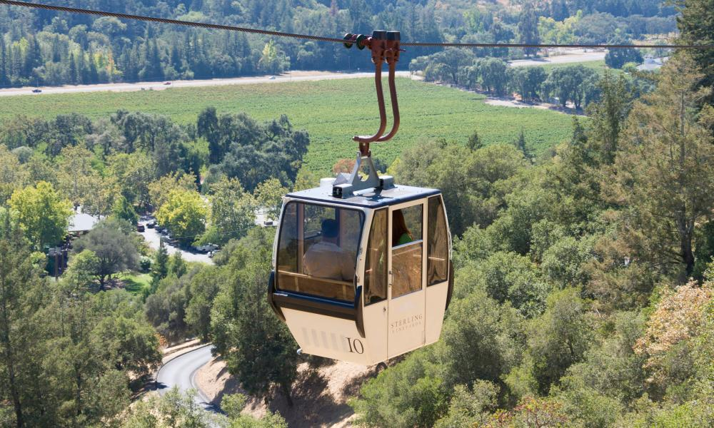 Gondola Ride at Sterling Vineyards
