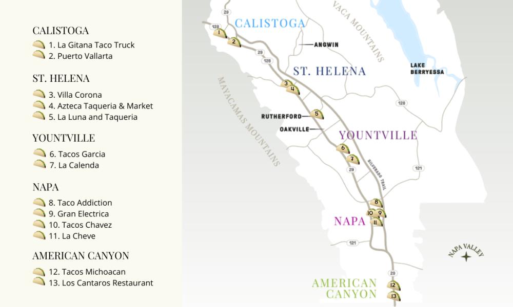 Taco Trail Map