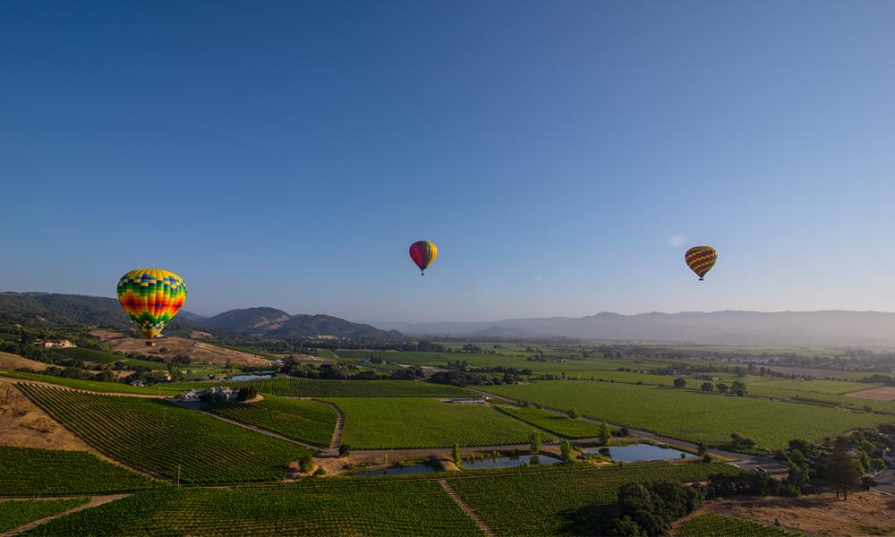 Unique Experiences to Inspire Your Visit to Napa Valley – Hot Air Balloon Ride