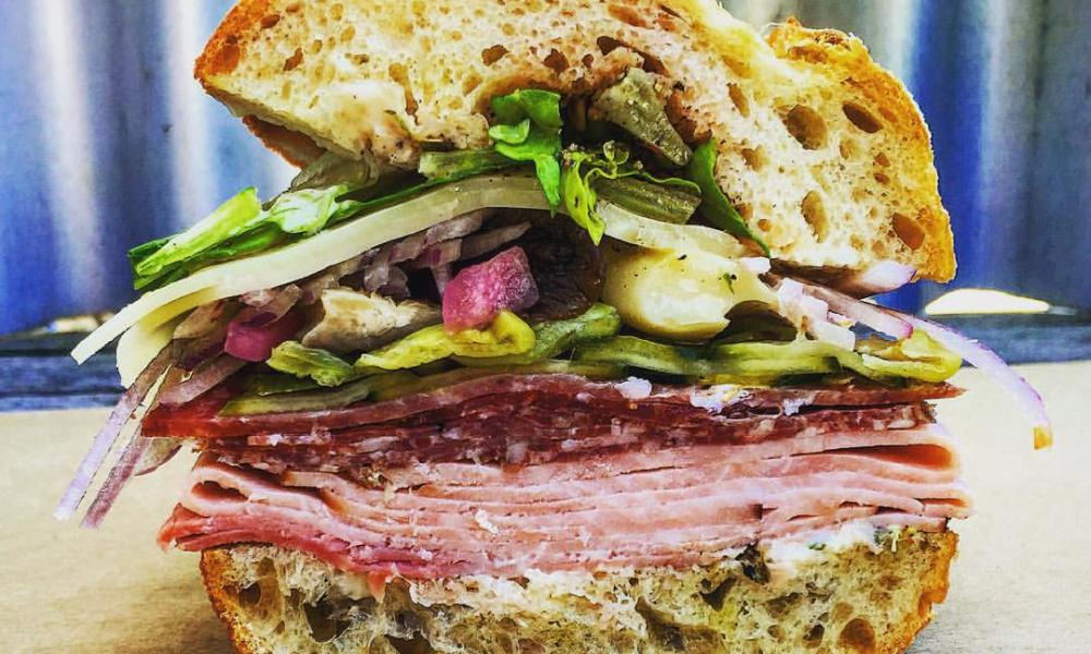 Freshly made at the Oakville Grocery in St Helena, this delicious sandwich is ready for a picnic adventure