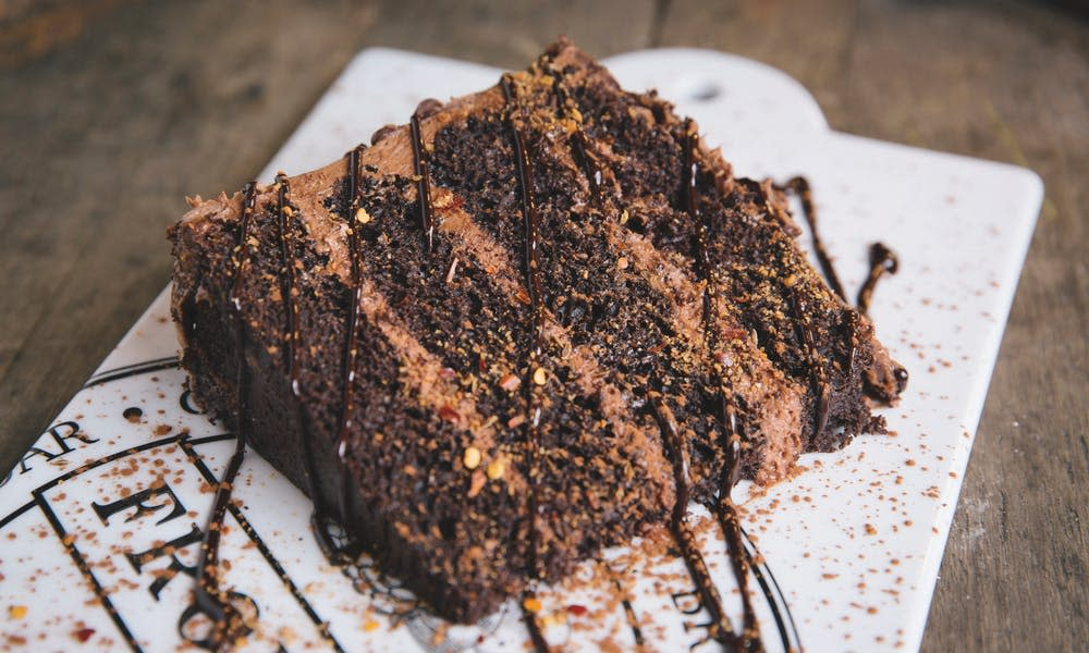 The Aztec Mocha Cake at the Vineyard Market by Brad Zweerink.