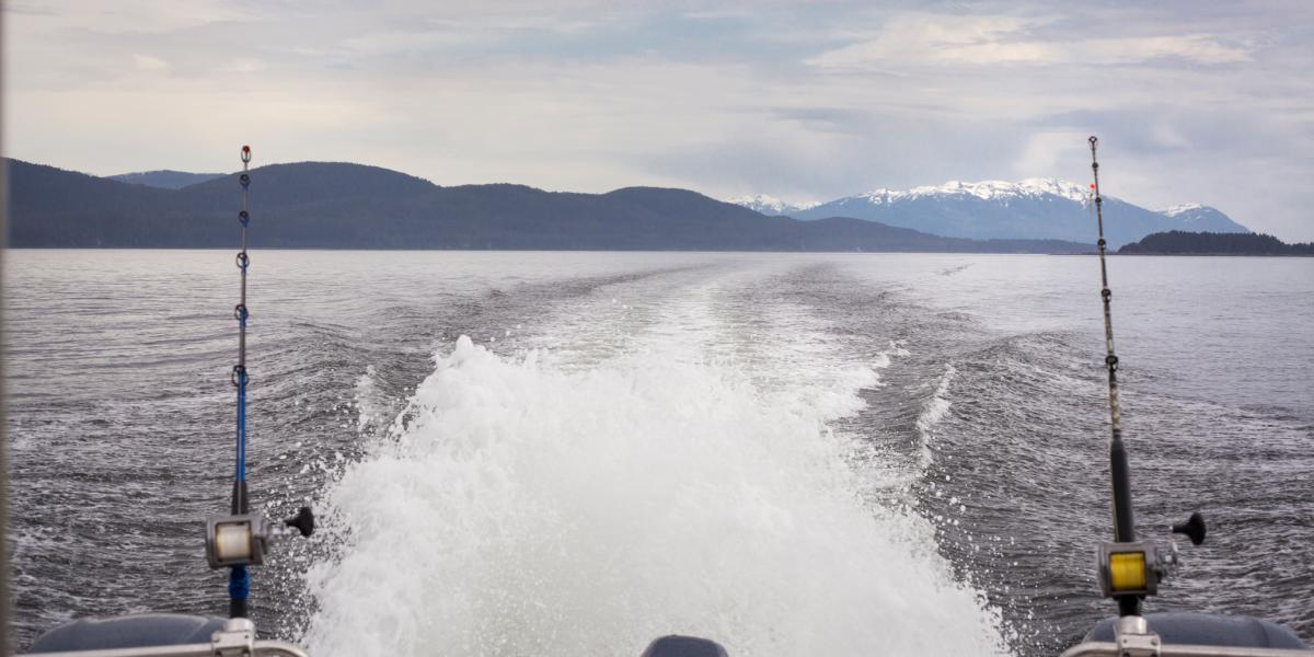 Fishing Boat Making Waves