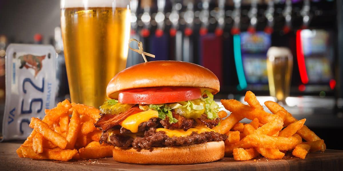 Rosie's Burger, Fries & Beer from Rosie's Kitchen