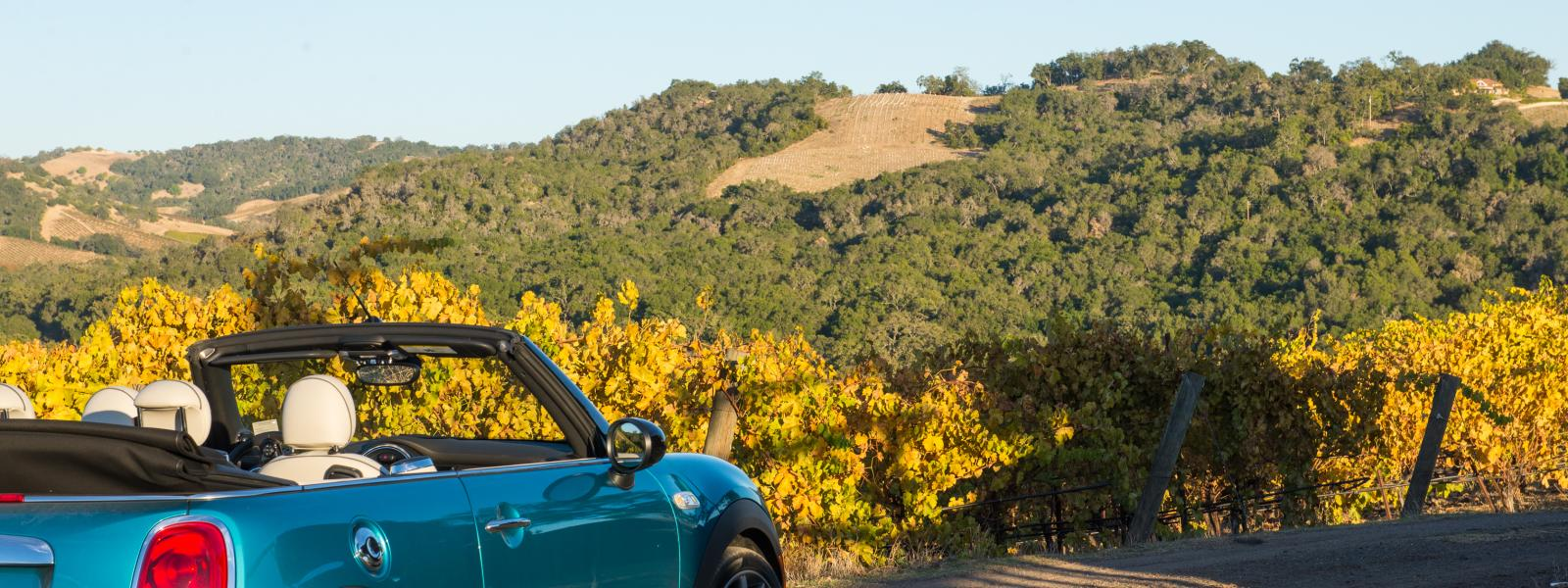 Parked along the road to enjoy the view in Paso Robles