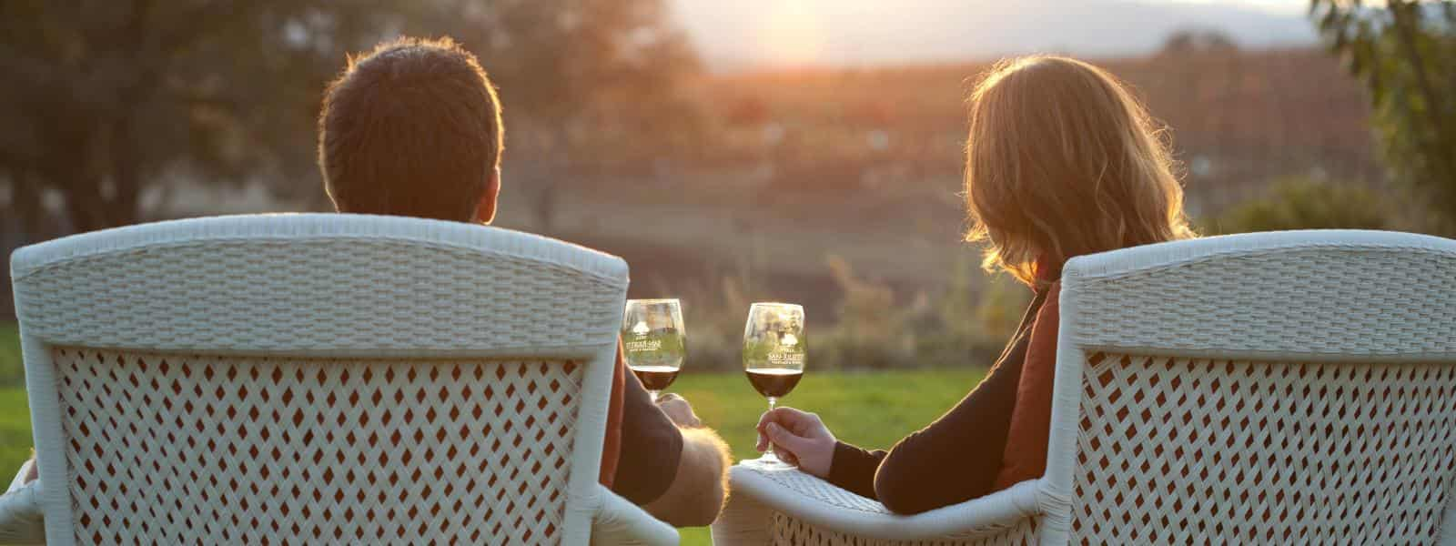 couple drinking wine in Arroyo Grande