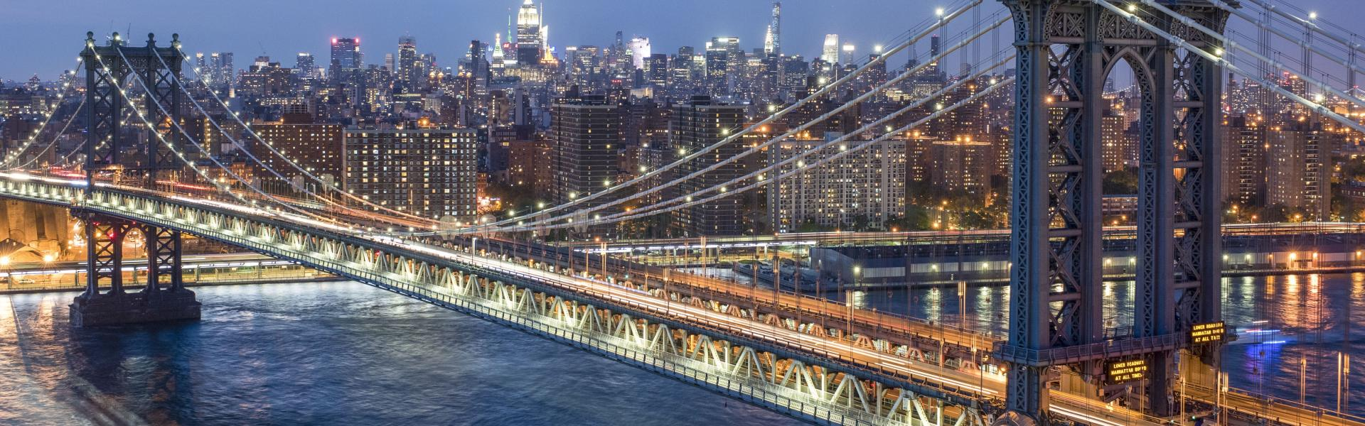 Skyline, Manhattan Bridge, Brooklyn, Manhattan, NYC, Julienne-Schaer