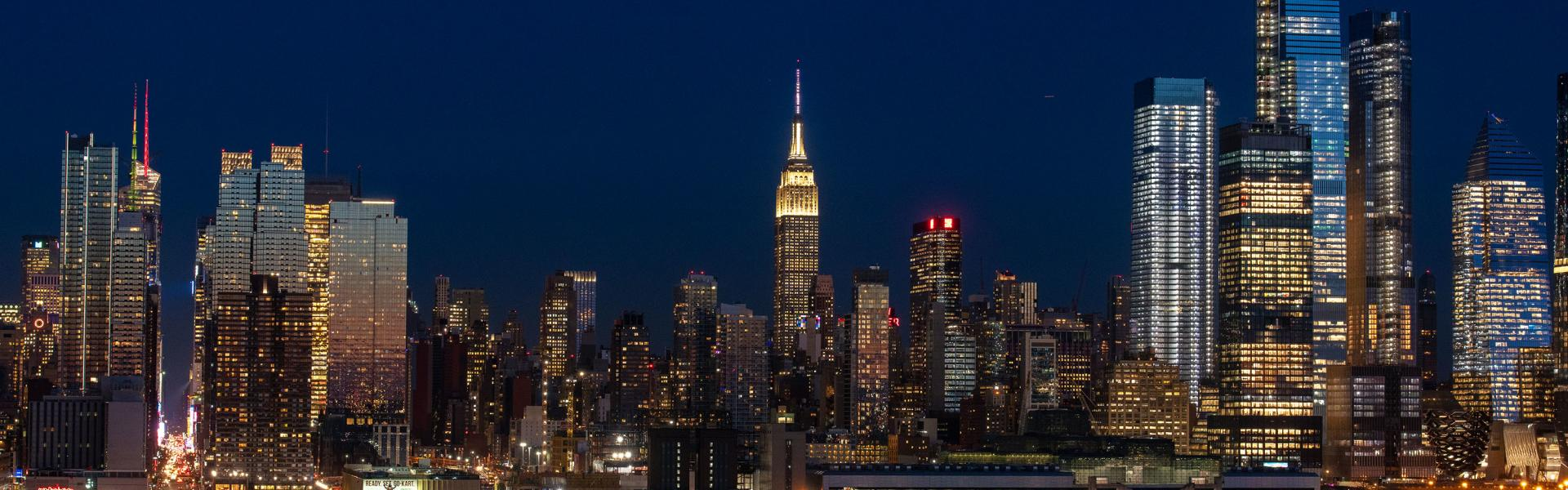 Skyline View at night, Midtown, Manhattan, NYC