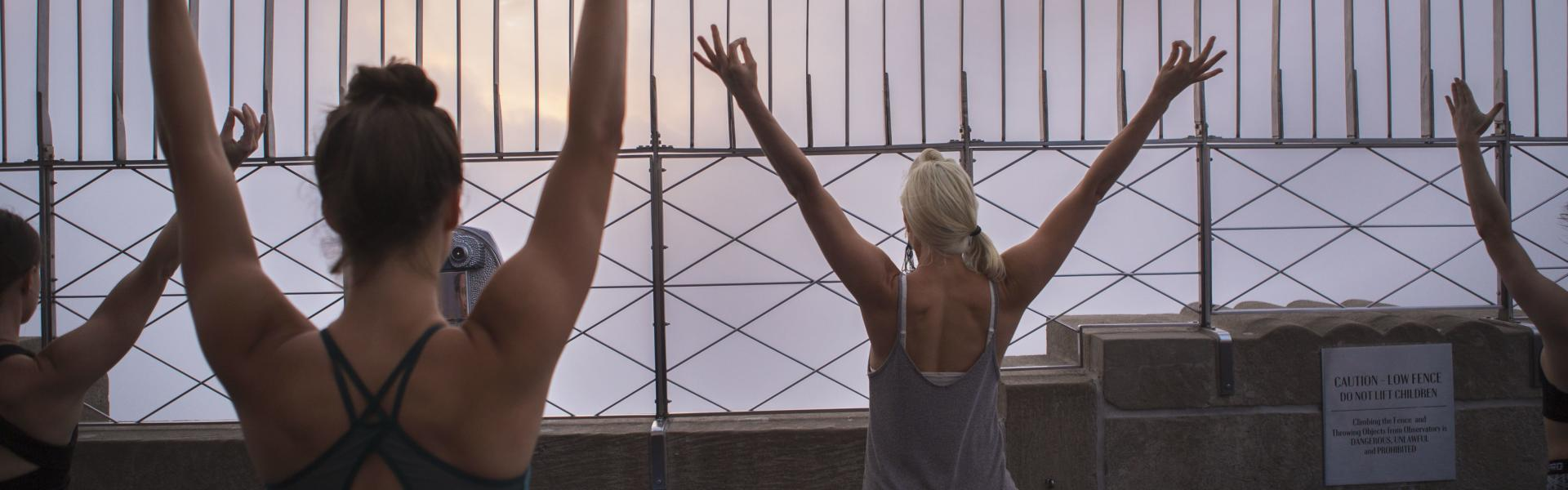 Empire State Building, Sunrise, Yoga