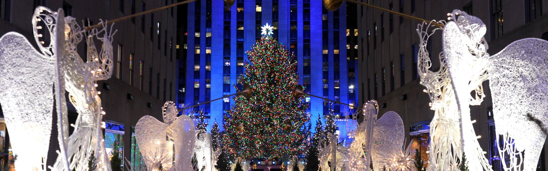 rockefeller center, christmas tree, holiday