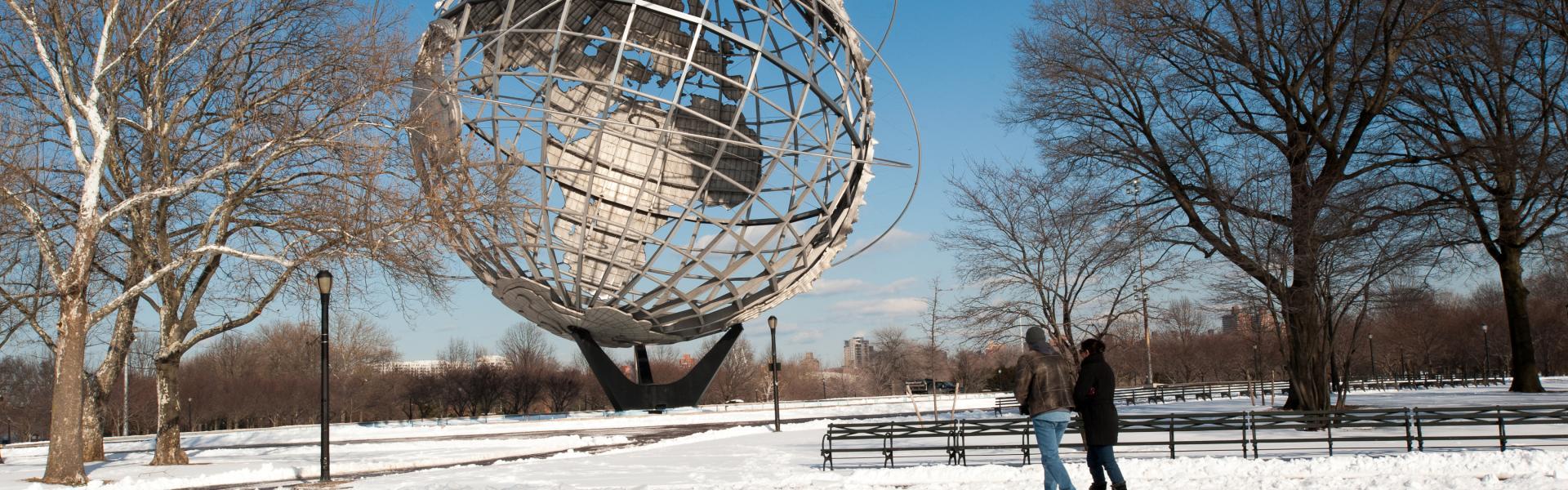 Unisphere, Winter, Snow, Daytime