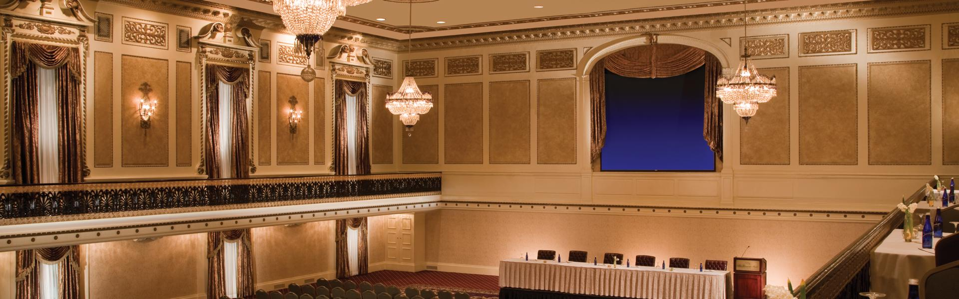 Roosevelt Hotel, interior, ballroom
