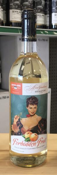 Bottle of white wine featuring artwork of Ava Gardner on the label