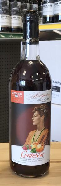 Bottle of red wine from the Ava Gardner Signature Collection. Features artwork of Ava Gardner on the label.