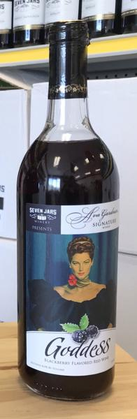 Bottle of Red Wine from the Ava Gardner Signature Wine Collection, featuring an image of Ava Gardner on the label