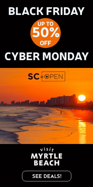 Black Friday Cyber Monday 2020, Visit Myrtle Beach, SC