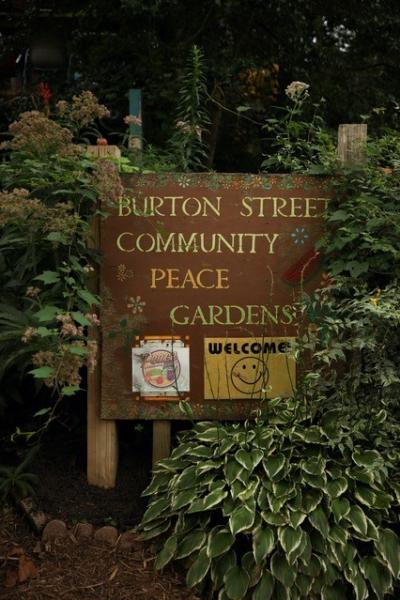 The Burton Street Community Peace Garden in Asheville, NC