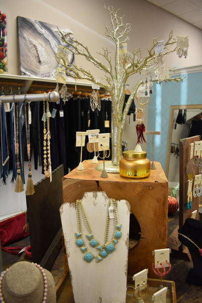 Necklaces displayed at Sapphire on Spring Jeffersonville Shopping