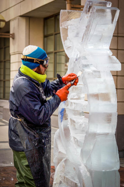 HBG Ice Carving Demo