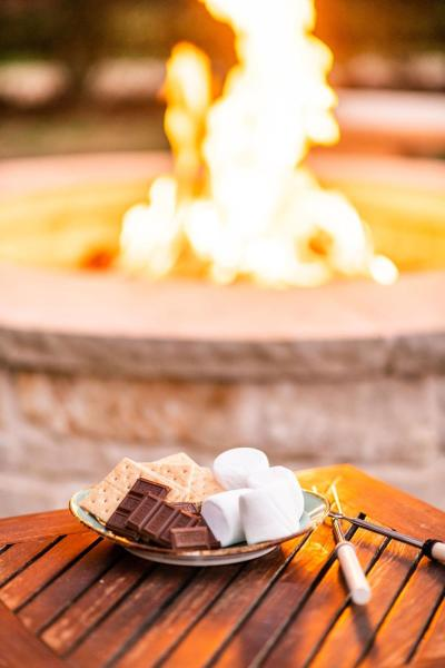 Nylo fire pit smores
