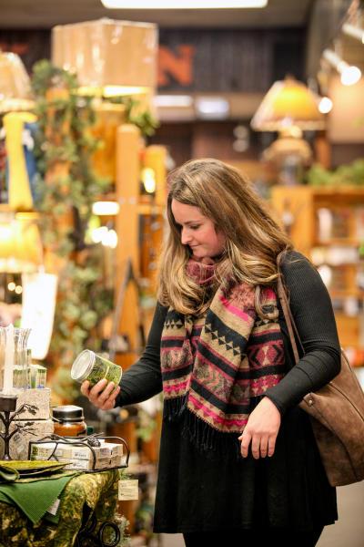 Woman Shopping in Minocqua