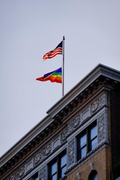 Pride flag in NY