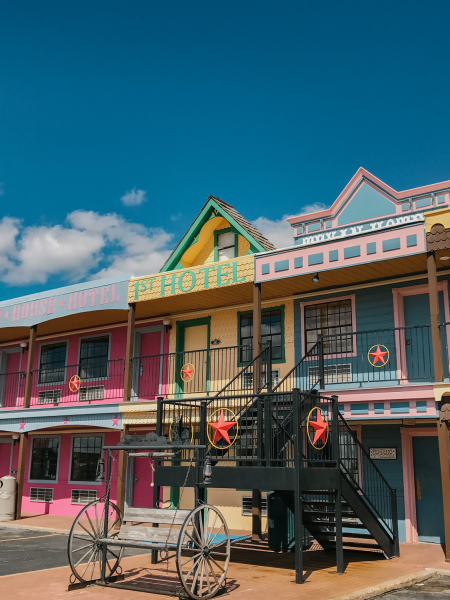 exterior of the big texan motel