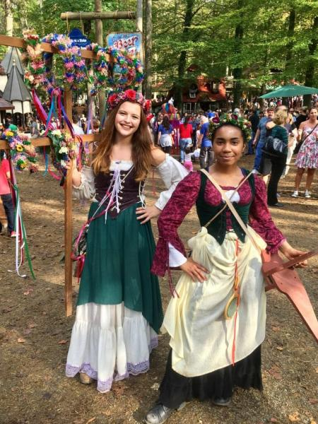 Wreath sellers at the Maryland Renaissance Festival